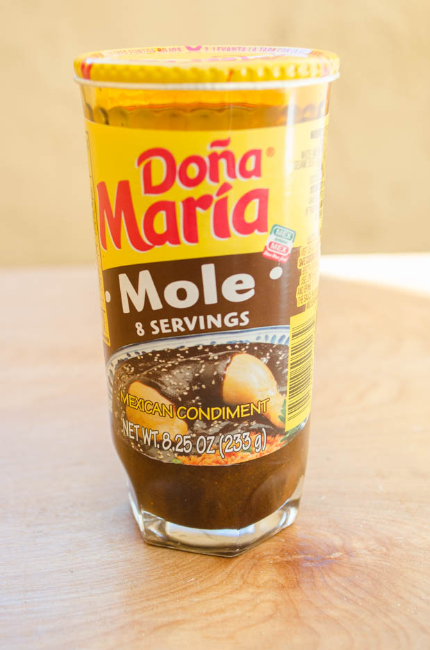 This vegan recipe for plantain mole enchiladas combines the spiciness and richness of mole with the sweetness of a garlic-plantain mash.